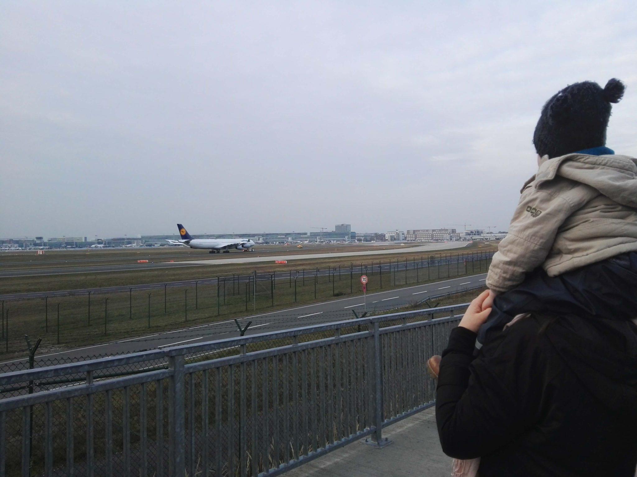 Von oben siehst du noch besser! Frankfurt Flugzeugplattform - Copyright Frankfurt mit Kids