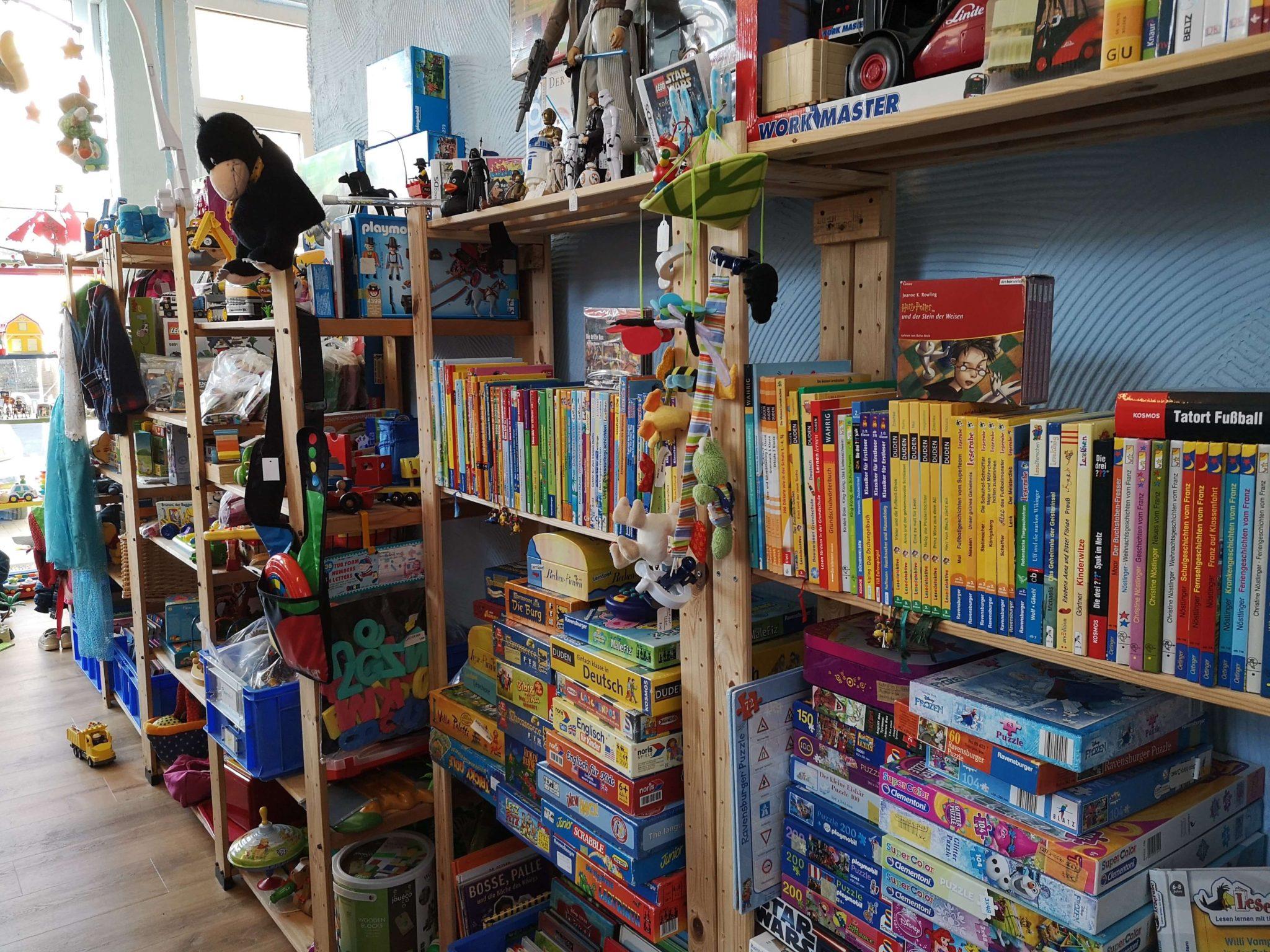 Bücher, Spielzeug und Spiele in der Krötenkiste - Frankfurt mit Kids