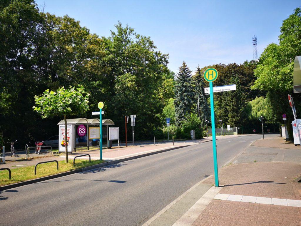 Wasserlehrpfad in Bornheim ist einfach z. B. mit dem Bus 34 zu erreichen