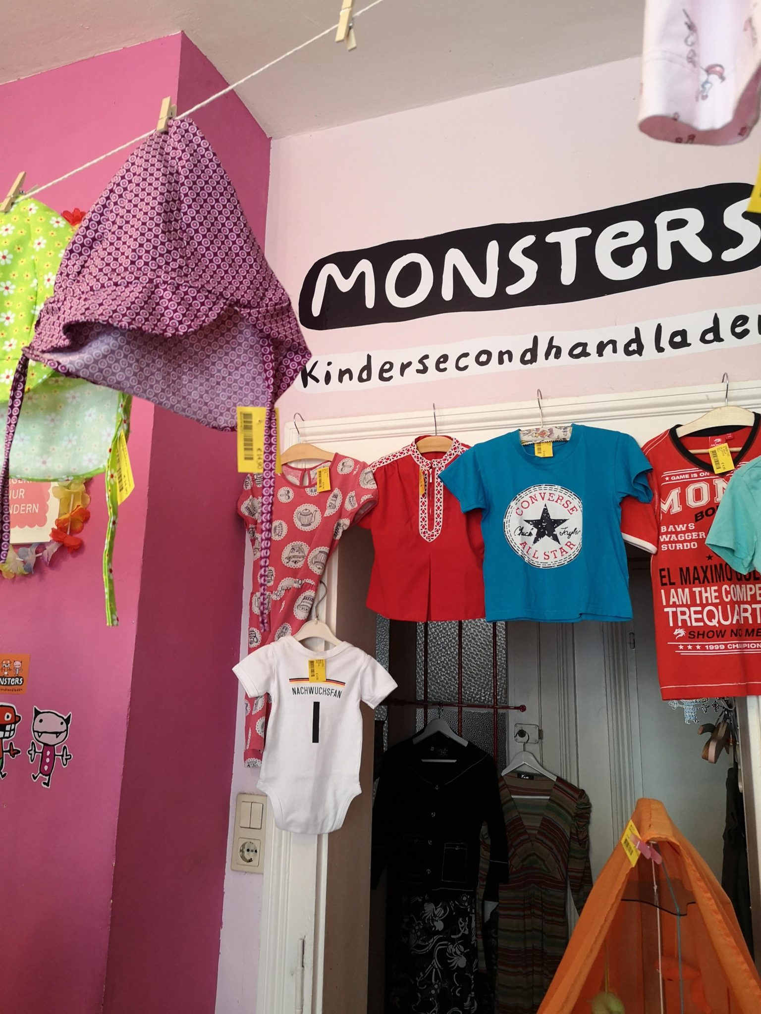 Monsters Seconhandladen für Kinder