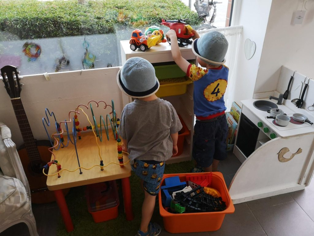 Spielecke im Königskinder Kindersecondhandladen in Neu-Isenburg