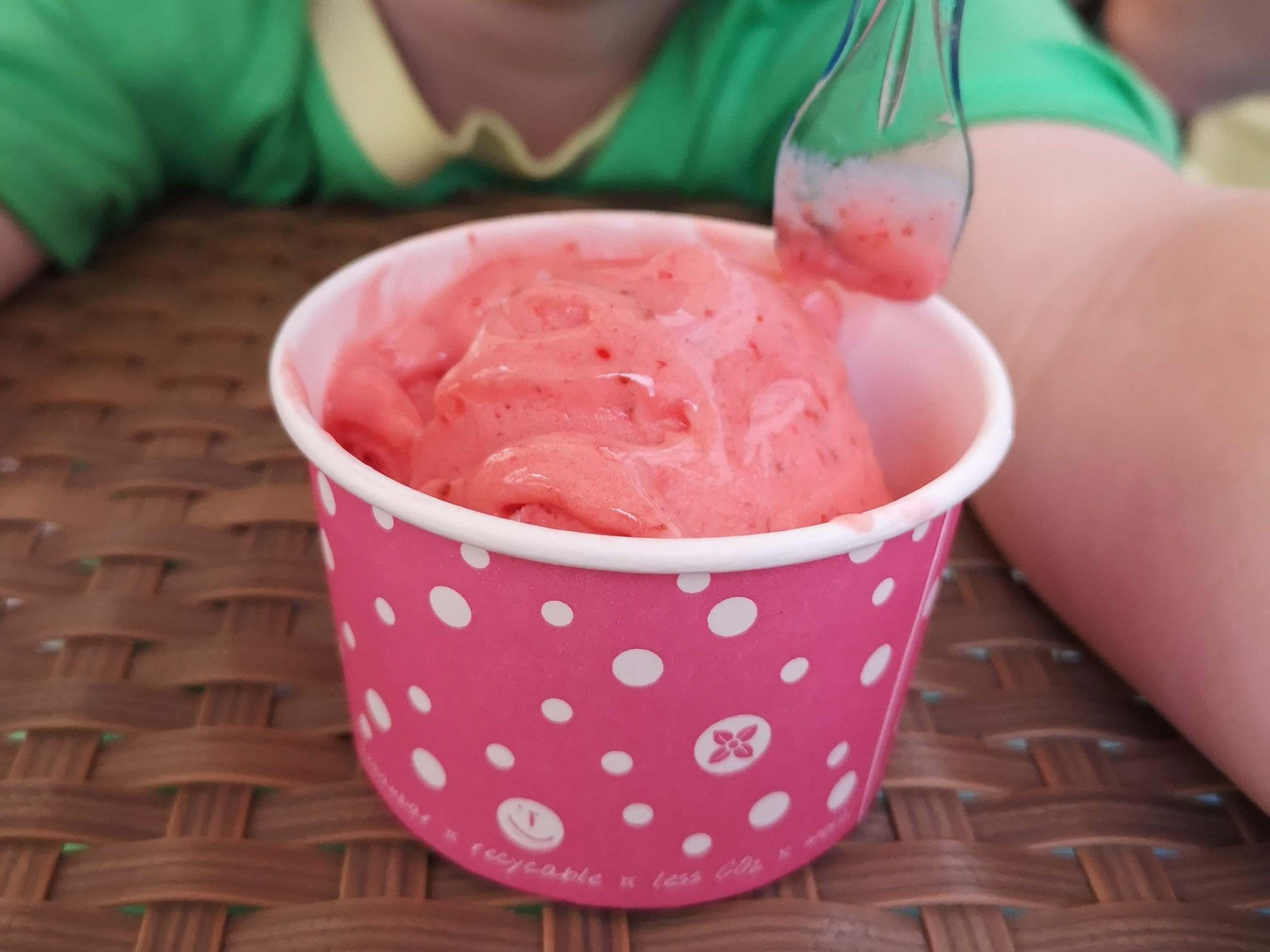 Das Erdbeereis vom Eiscafé Blackberries war der Knaller