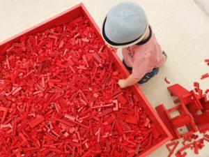So viele rote Bausteine auf der LegoBaustelle