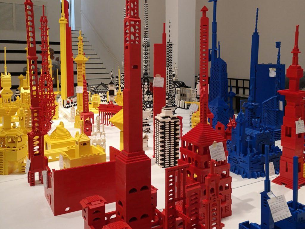 Tolle Gebäude wurden hier gebaut auf der LegoBaustelle - Frankfurt mit Kids