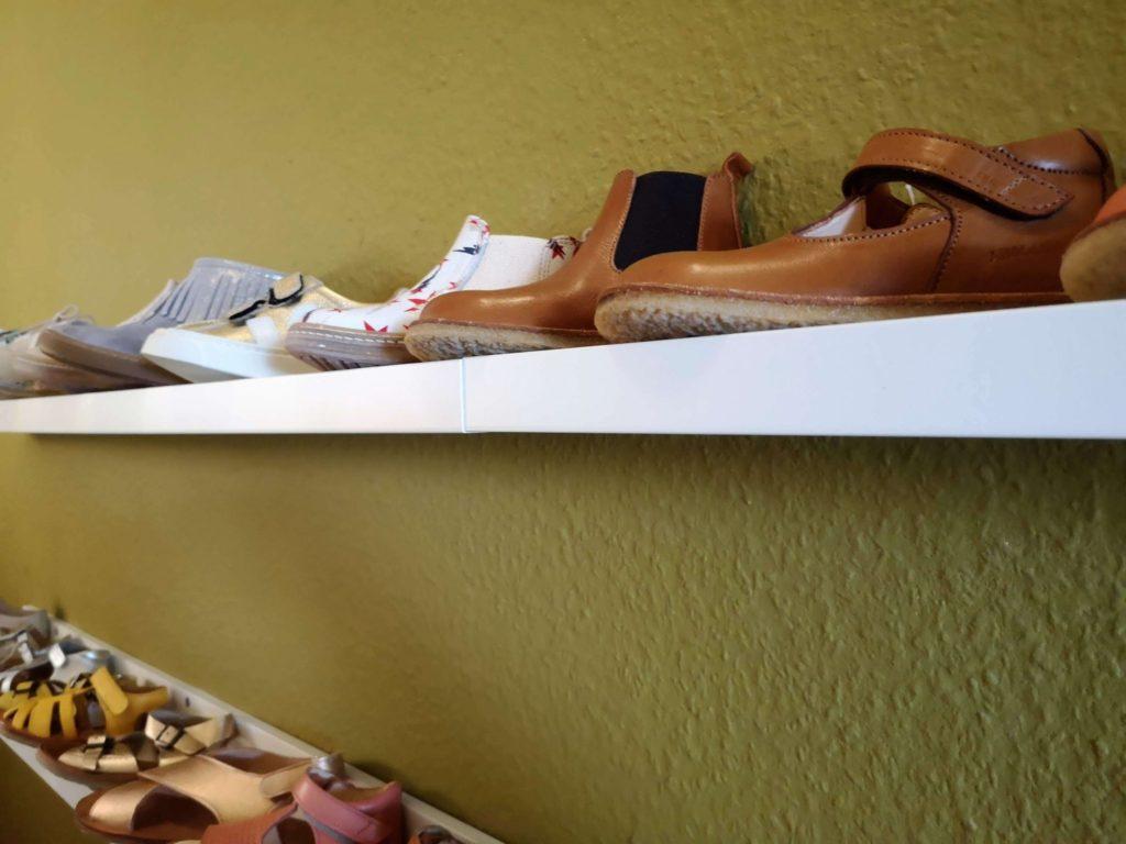 Die Schuhauswahl in der Konfettiwolke - Frankfurt mit Kids