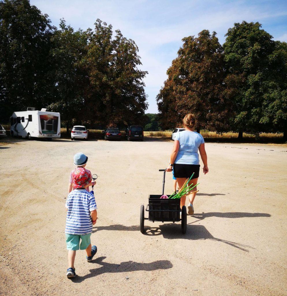 Immer Maria nach im bioversum Jagdschloss Kranichstein - Frankfurt mit Kids