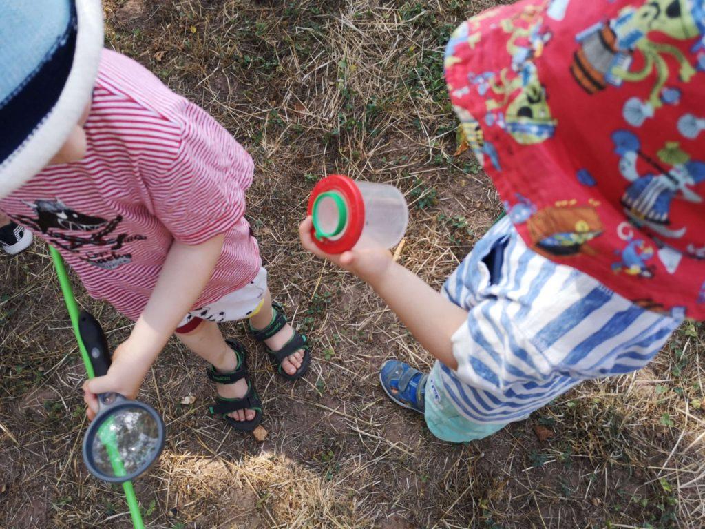 Kleine Forscher auf Krabbel-Kriechen-Hüpfen-Tour im bioversum Jagdschloss Kranichstein - Frankfurt mit Kids