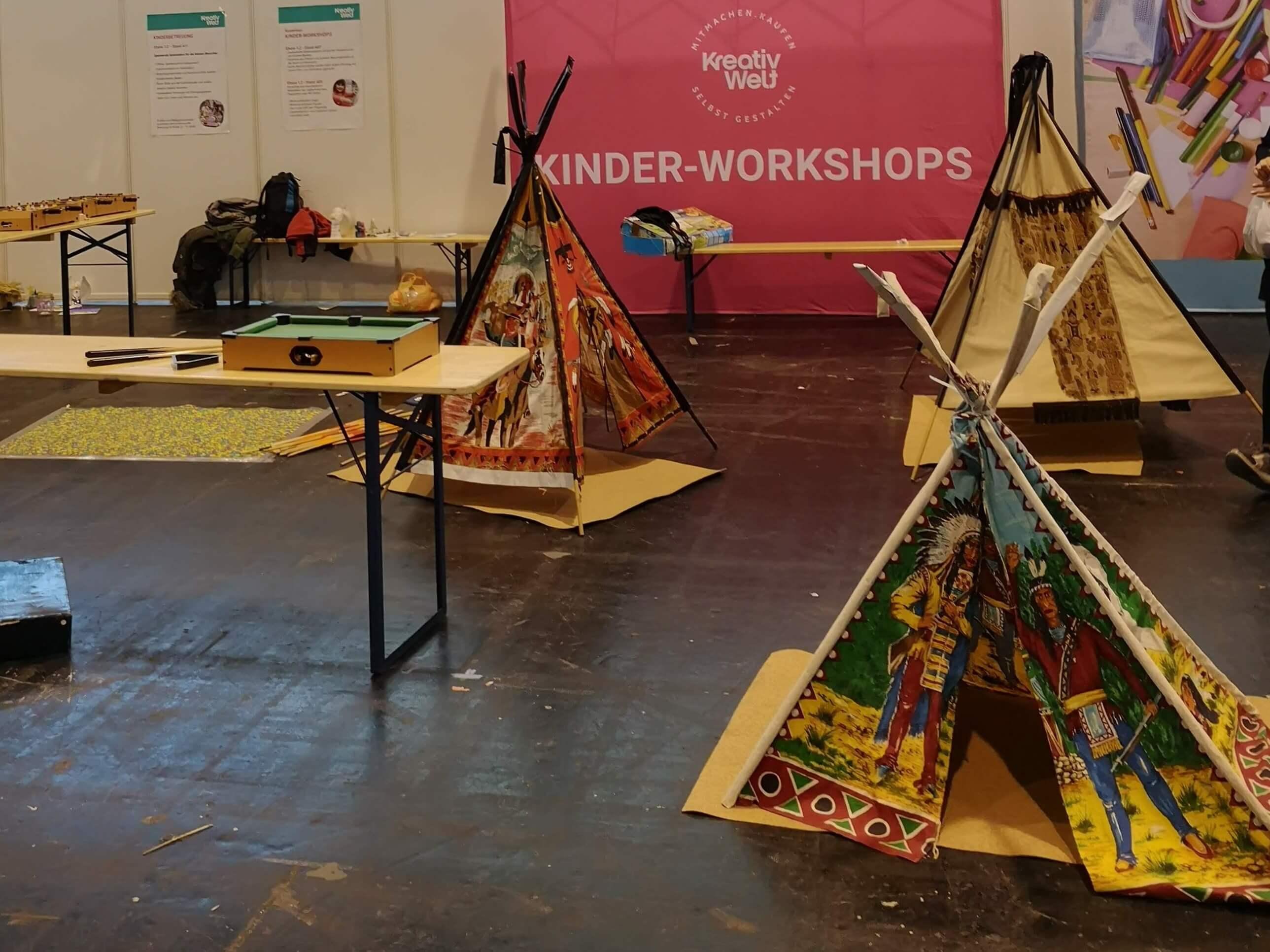 Das Kinderareal auf der Kreativ Welt Frankfurt - Frankfurt mit Kids