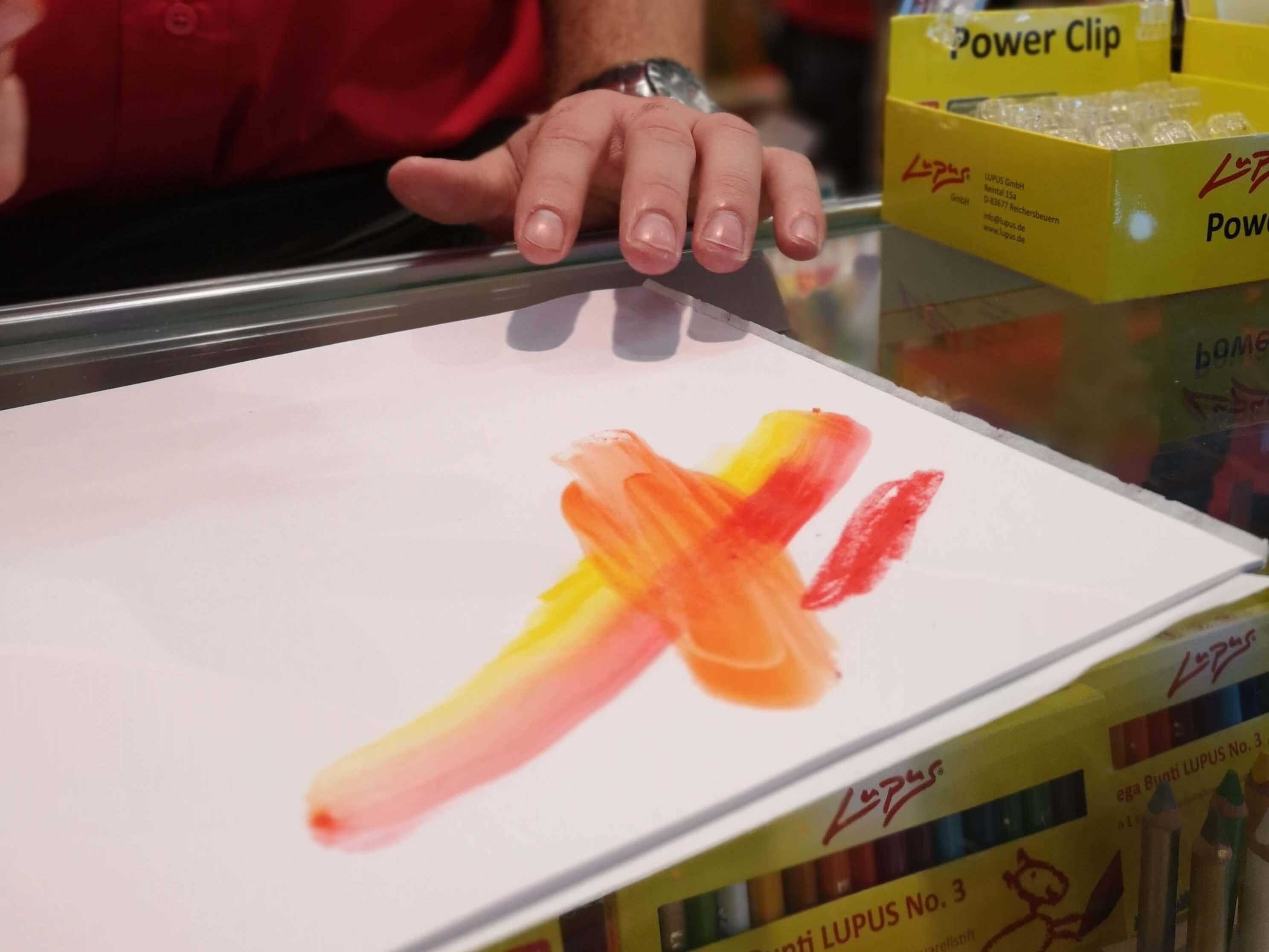 Tolle Stifte bei Lupus auf der Kreativ Welt Frankfurt - Frankfurt mit Kids