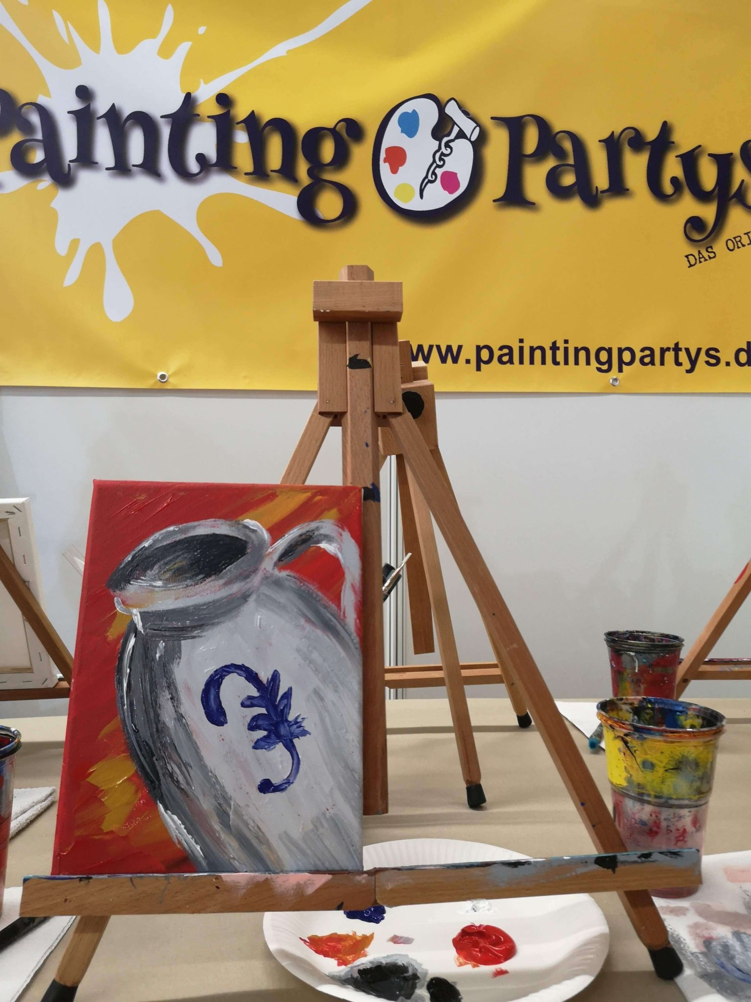 Workshop Bembel malen bei Painting Partys - Frankfurt mit Kids