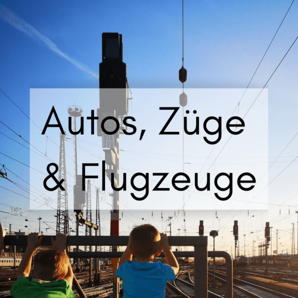 Autos, Züge und Flugzeuge