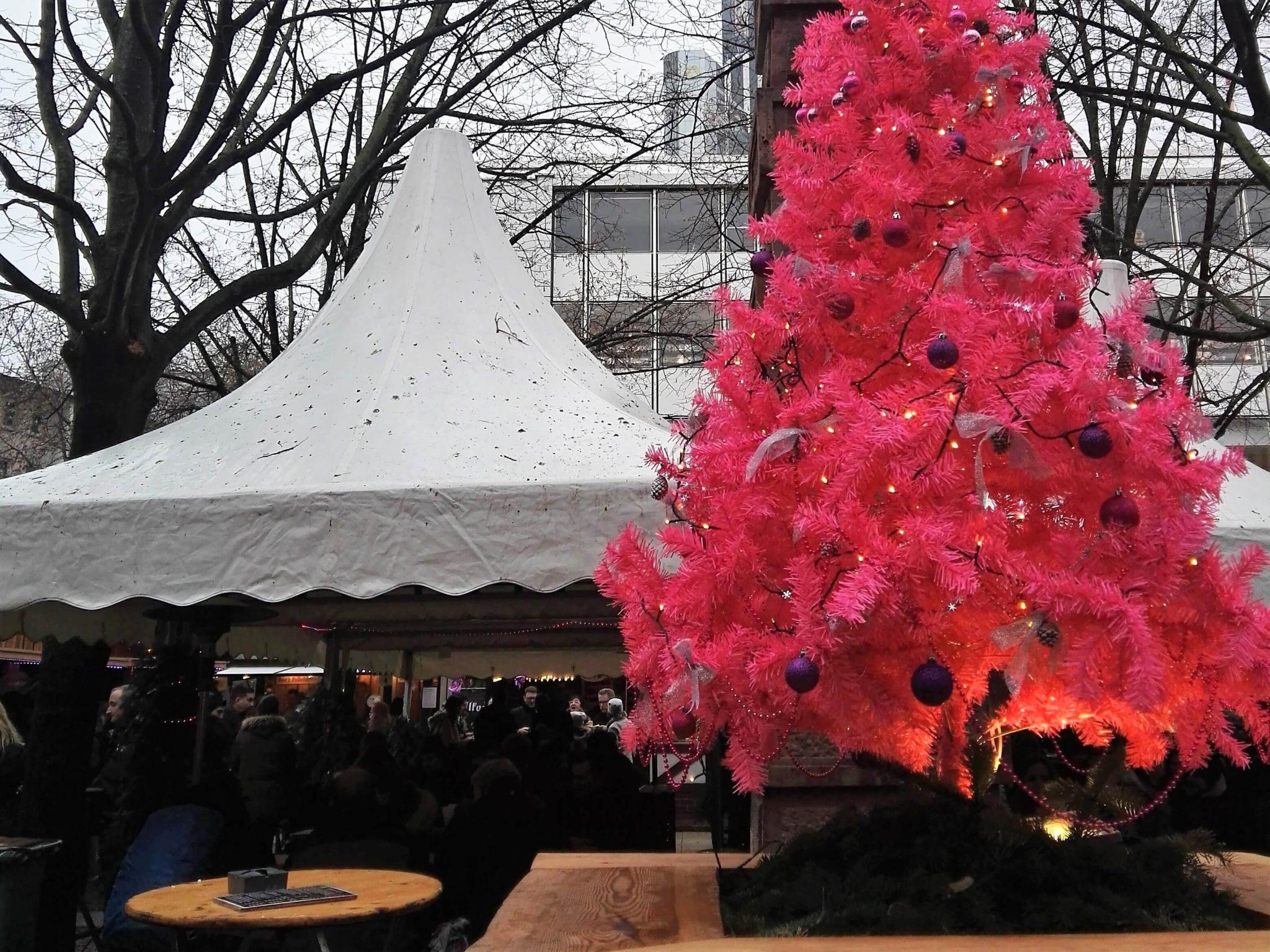 Der Rosa Weihnachtsmarkt in Frankfurt