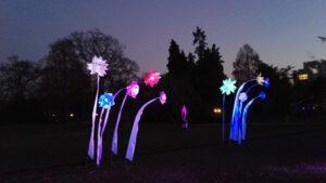 Schöne Blumen-Lichtinstallationen Winterlichter Palmengarten
