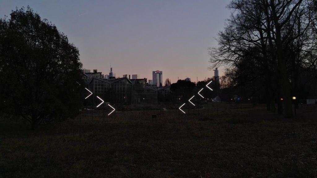 Winterlichter Palmengartem mit tollem Blick auf die Skyline