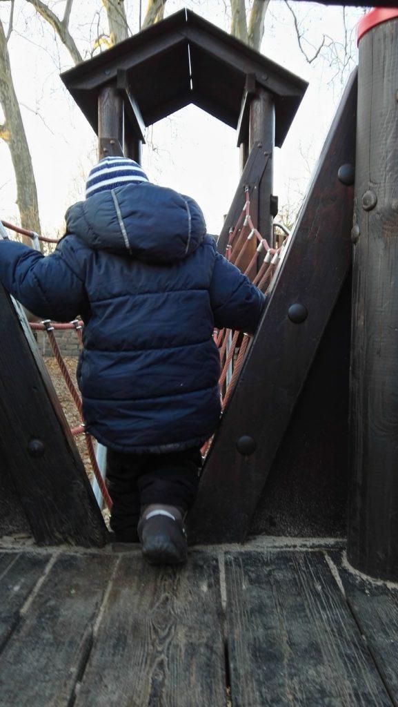 Austoben auf dem Kinderspielplatz