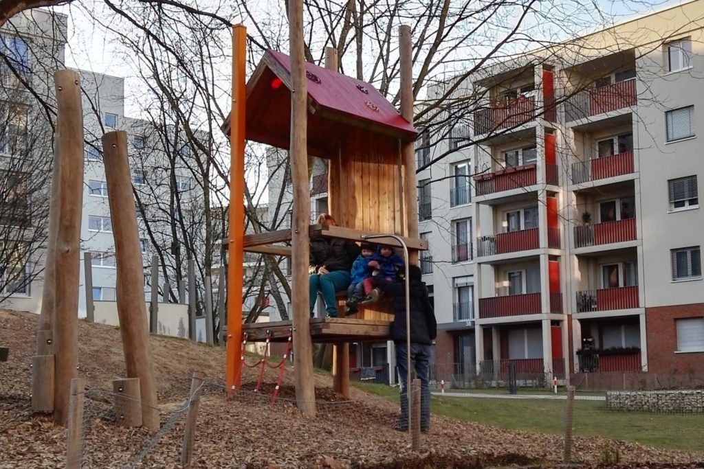 Heinrich Lübke Siedlung Spielplätze Praunheim