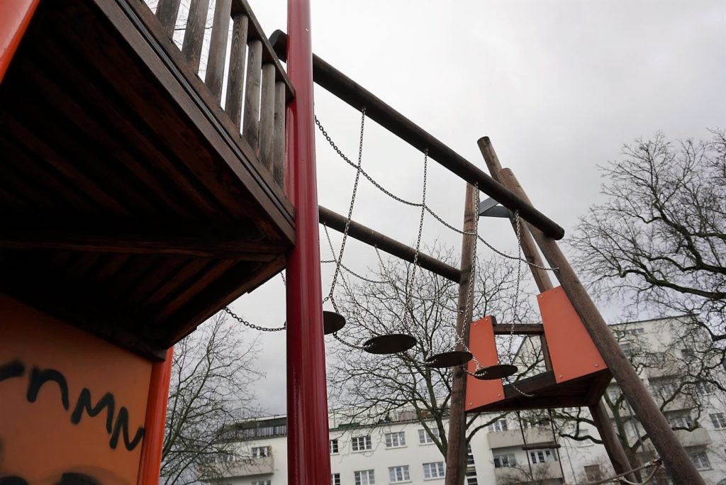 Spielplatz Kettelerallee ist toll zum Klettern
