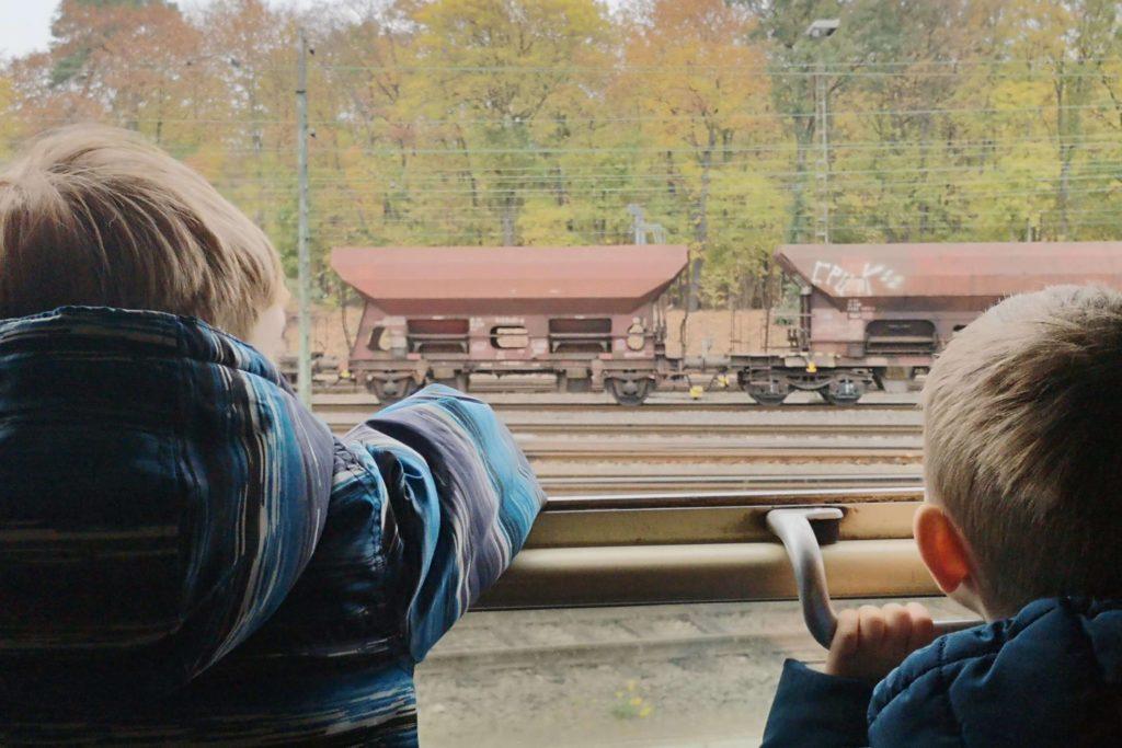 Es gibt viel zu sehen auf der Fahrt im Dampflok-Express