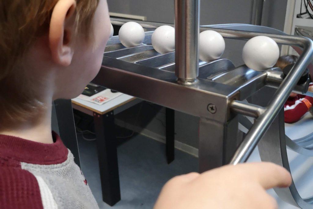 Das Kugelbahn-Experiment war das Highlight
