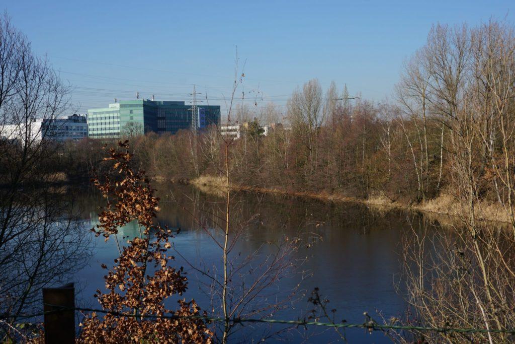 Die Schmitt'sche Grube vor dem Industriepark Höchst