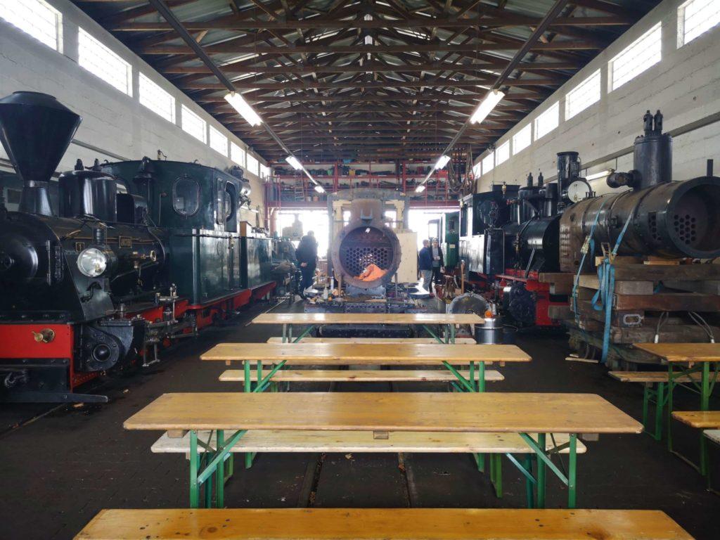 Die Werkstatt im Feldbahnmuseum Frankfurt