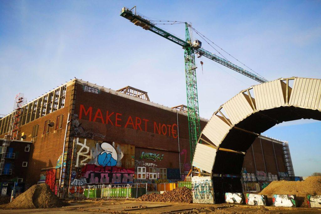 Hier an der NDSM Werft gibt es viel für alle zu entdecken - nicht nur für Kinder