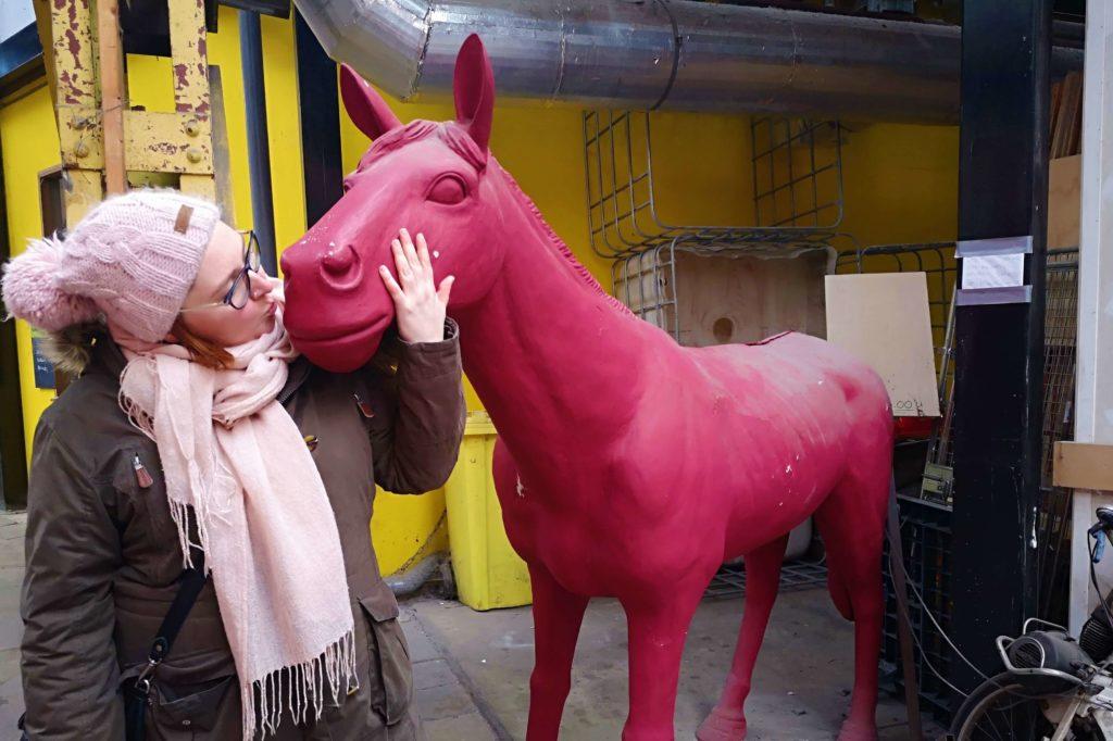 Ich wollte schon immer ein rosa Pferd küssen