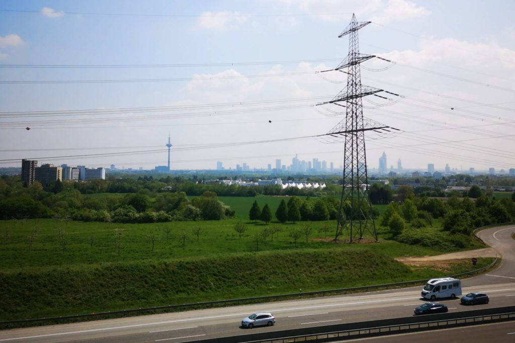 Blick vom Turm auf die Frankfuter Skyline