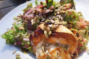 Leckerer Salat im Schweizer Milchhäuschen