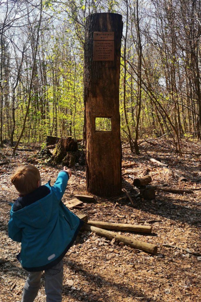 Walderlebnispfad Steine werfen Wiesabden