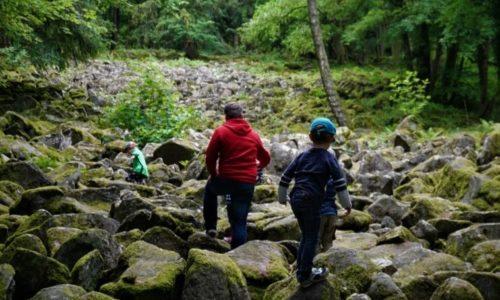 Klettern im kleinen Felsenmeer im Fischbachtal