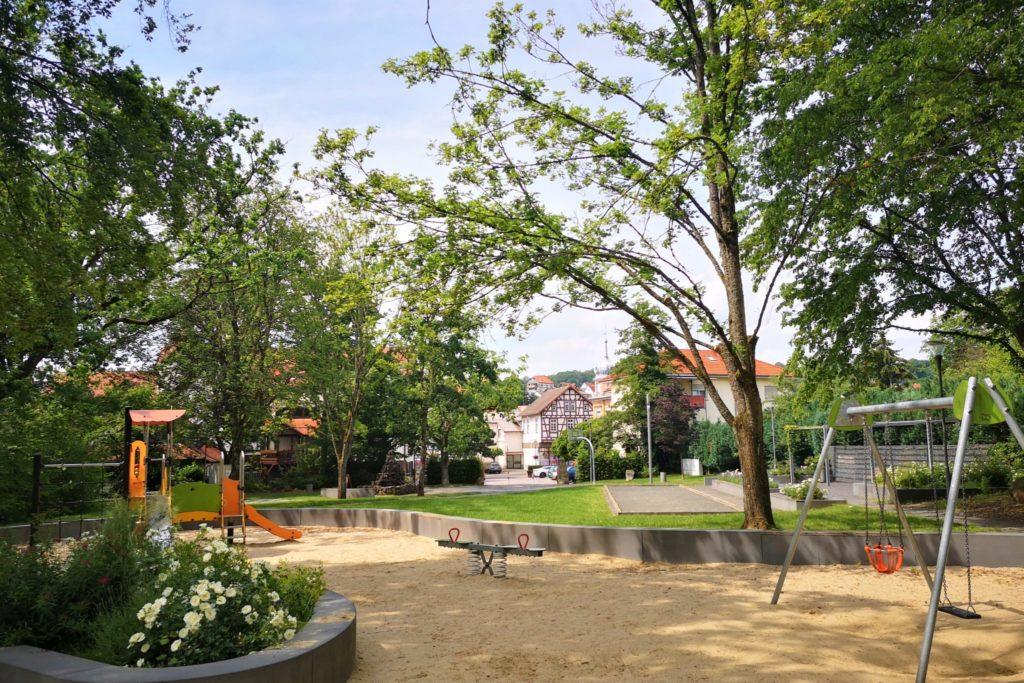 Spielplatz im Altburgpark in Schotten