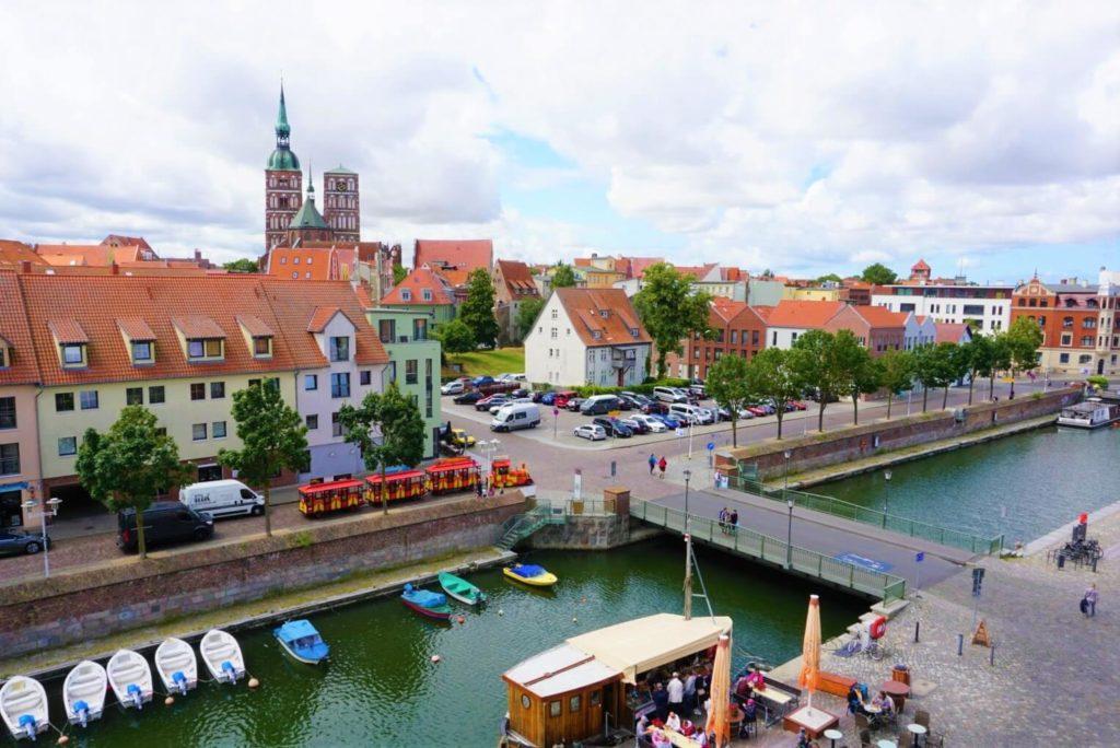 Blick auf Stralsund vom Ozeaneum