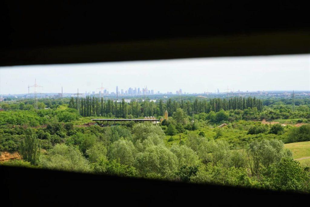 Blick aus 27m Höhe auf die Skyline Frankfurts