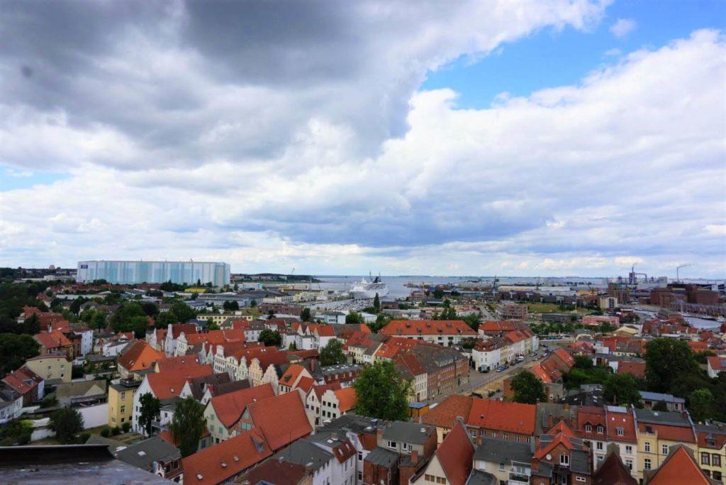Blick auf Wismar von der Sankt Georgen Kirche