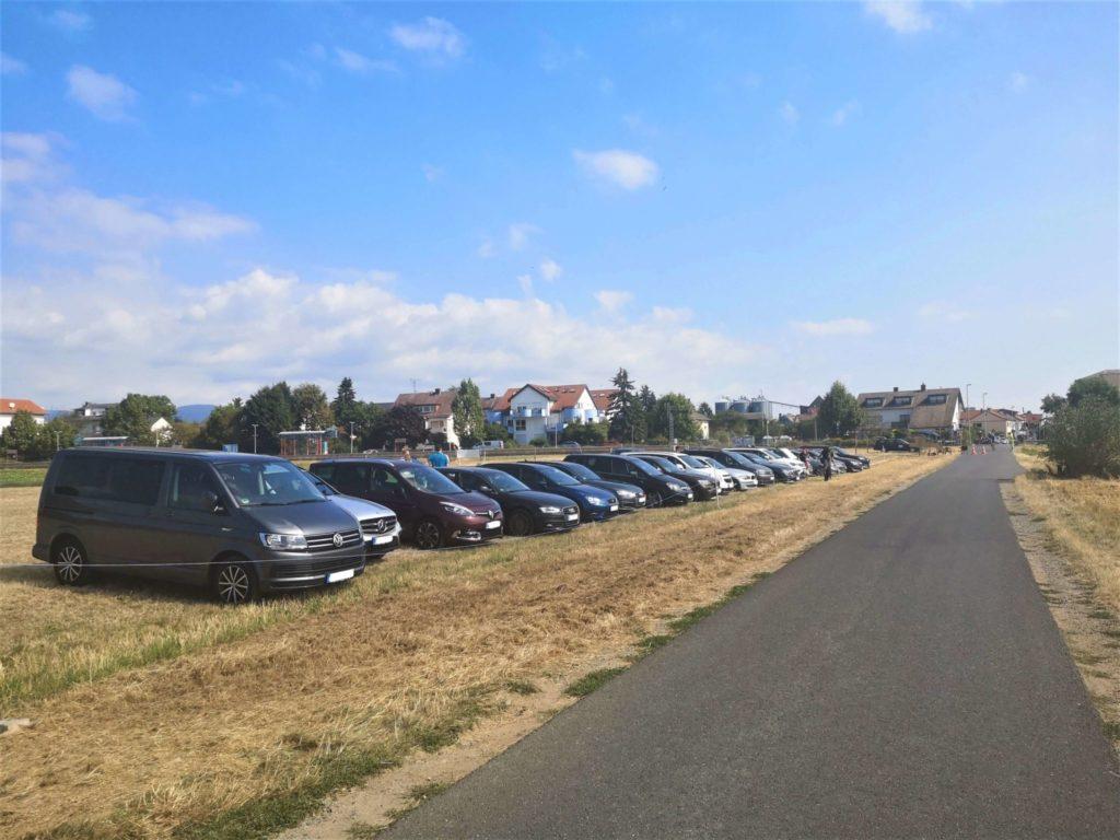 Parkplatz Maislabyrinth Liederbach