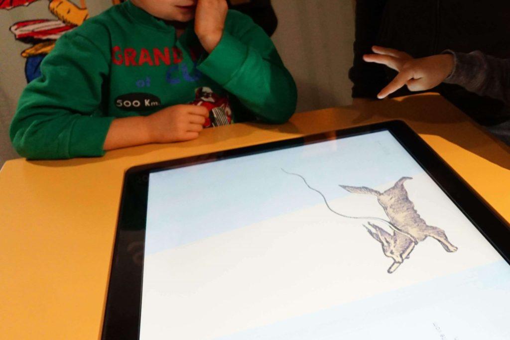 Touchscreen im Struwwelpeter Museum für Kinder