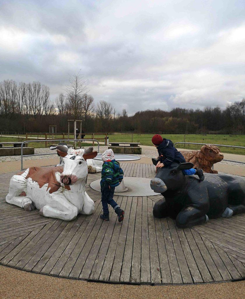 Arboretum Rinderkarussell Spielende Kinder