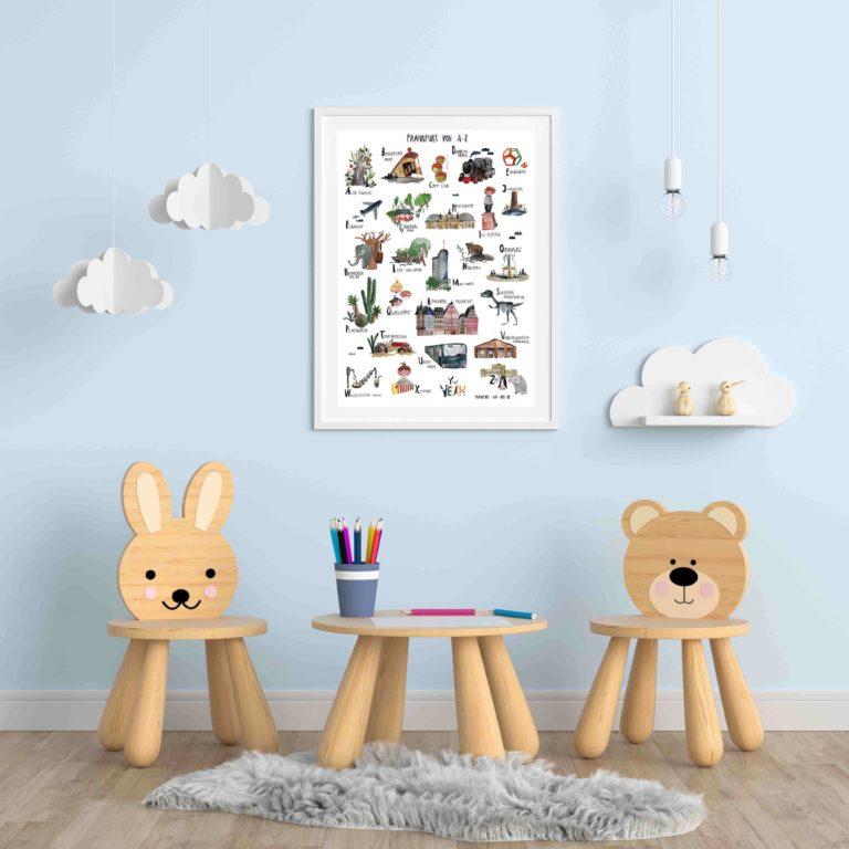ABC Poster Kinderzimmer Frankfurt