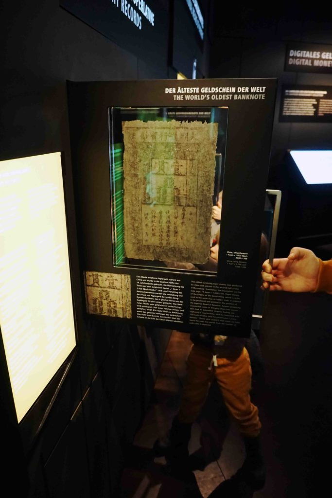 Der älteste Geldschein der Welt