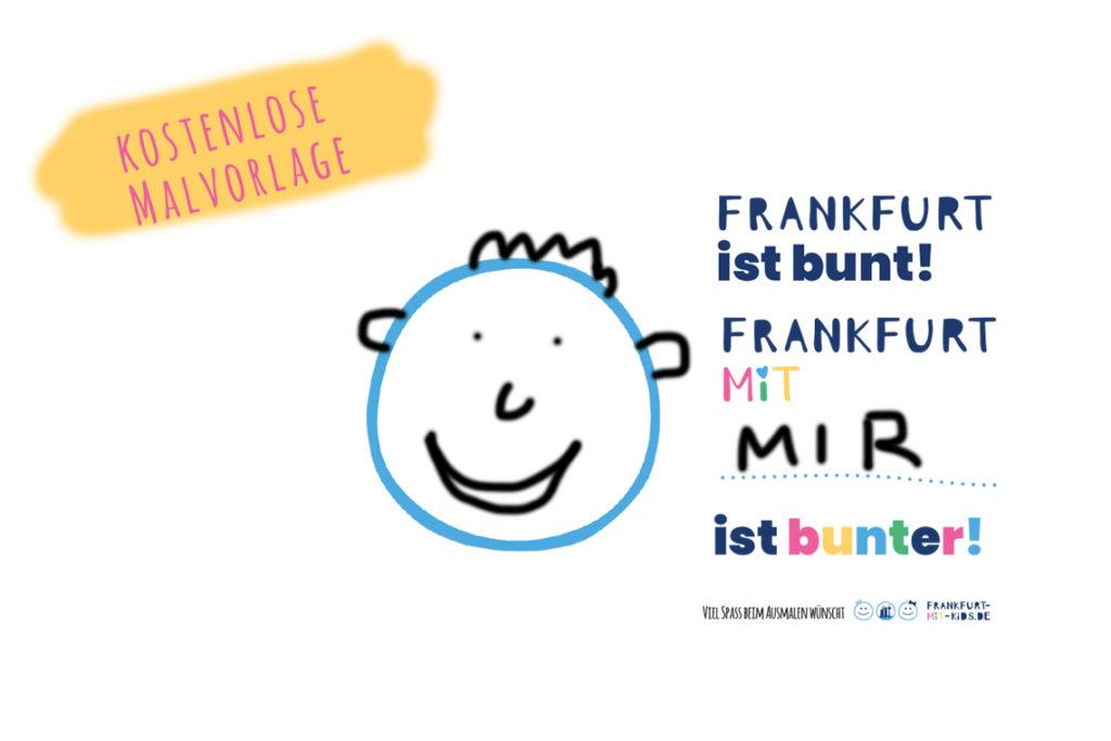Malvorlage Franfurt mit Kids