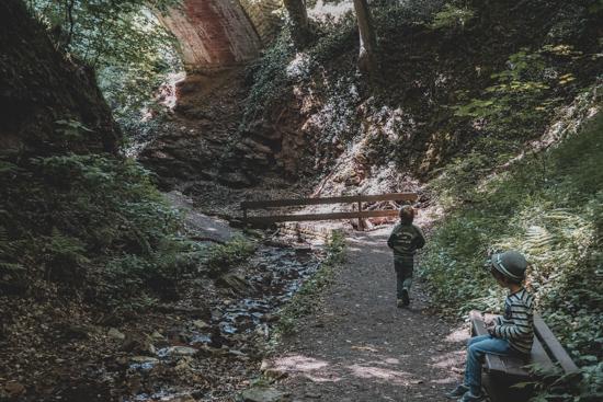 Wanderung Kinder Seltenbachschlucht Klingenberg am Main