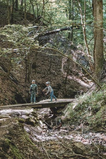 Kinder Seltenbachschlucht Klingenberg am Main