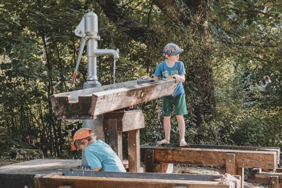Wasserspielplatz im Natur-Erlebnis-Garten Karben