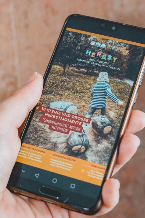 Digitales Magazin auf dem Smartphone