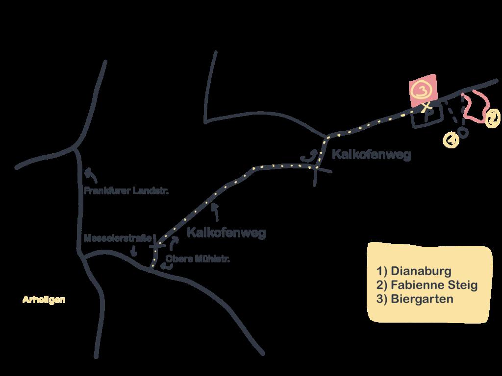 Karte Fabienne Pfad