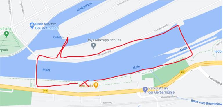 Route Osthafen Frankfurt
