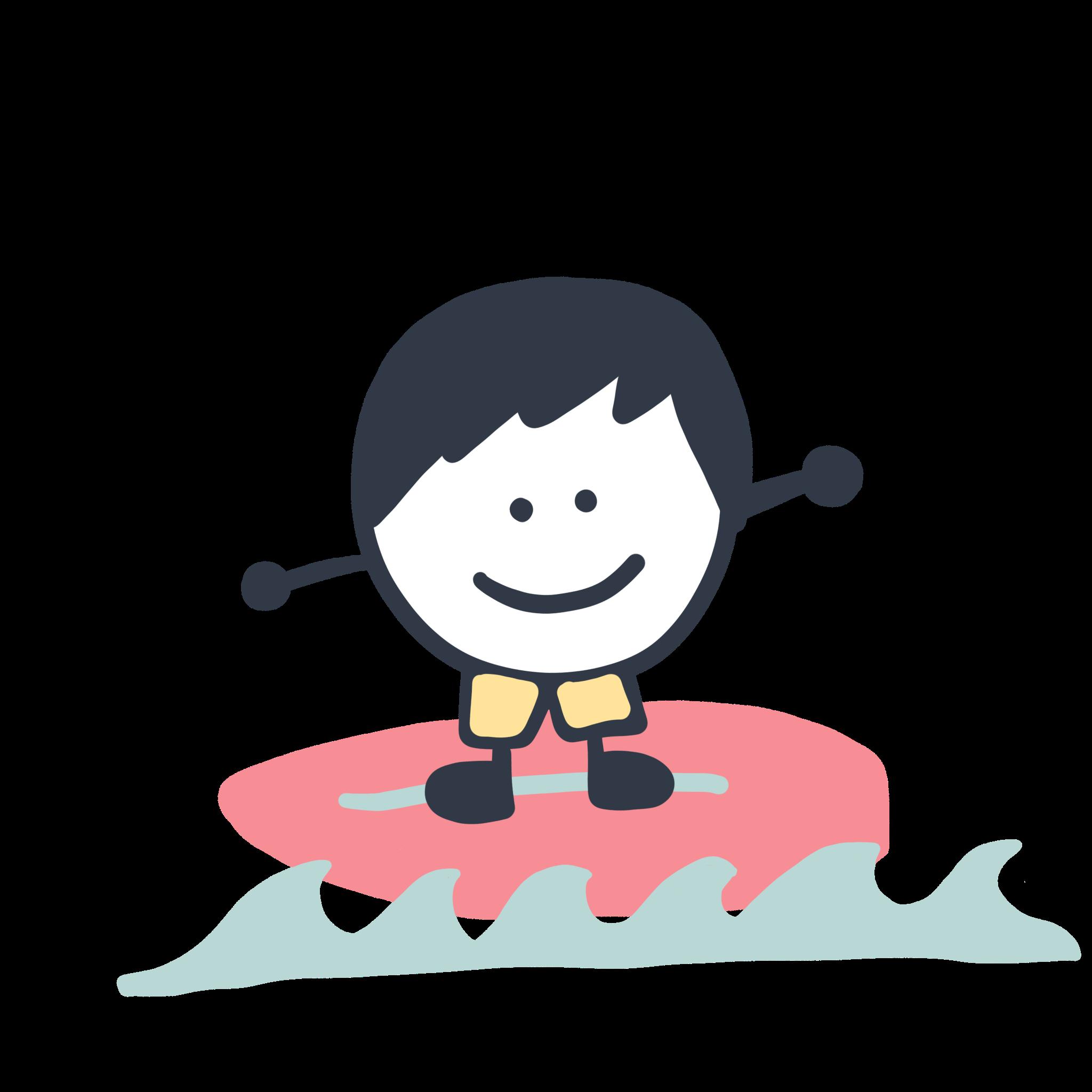 Kleiner Entdecker surft